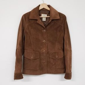 L.L. Bean Leather Camel Jacket